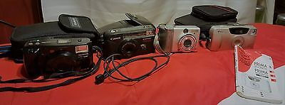 Lot Of 4 Cameras As Is For Parts Untested See Photos