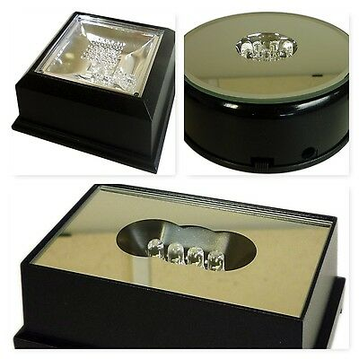 Laser Block Glass Ornament LED Display Illumination Stand