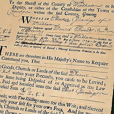 1729 antique COLONIAL windham lebanon ct GINNINGS vs EDWARDS LEGAL DOCUMENT