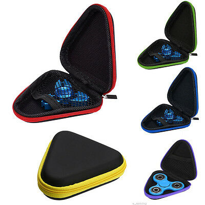 1Pc Fidget Hand Spinner Triangle Finger Toy for Focus ADHD Autism Box Bag Case