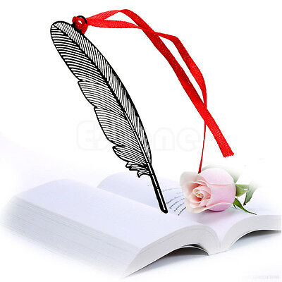 Elegant Feather Metal Book Marks Magazine Label Office School Gift Bookmarks New