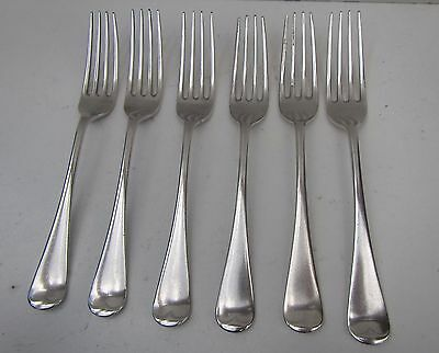 6 Old 'James Dixon & Sons, Sheffield' Silver Plated Dinner Forks