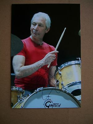 Charlie Watts The Rolling Stones Hand Signed Photograph