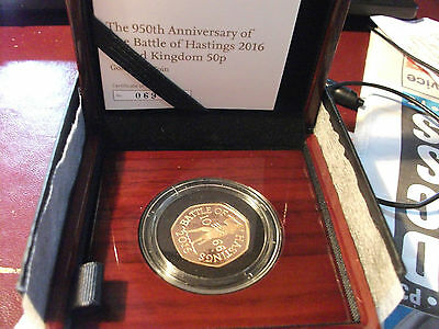Royal Mint Gold Proof 50p 950th anniversary Battle of Hastings ltd 069 of 350