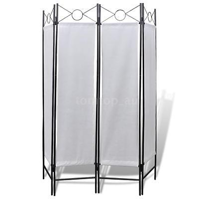 New 4-Panel Room Divider Privacy Folding Screen White 160 x 180 cm I9U7