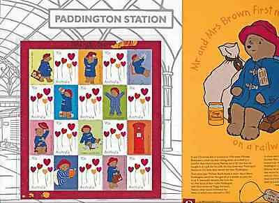 AUSTRALIA  2014   PADDINGTON  BEAR  2nd SHEET of 10 MNH