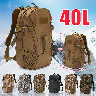 40L Military Tactical Army Rucksacks Molle Backpack Camping Hiking Bag Outdoor