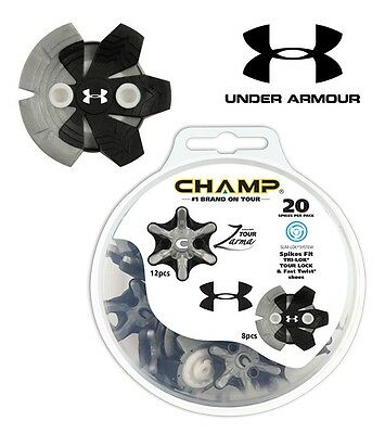 Champ Zarma Tour Under Armour Golf Shoe  Spikes Slim Lok Thread Insert System