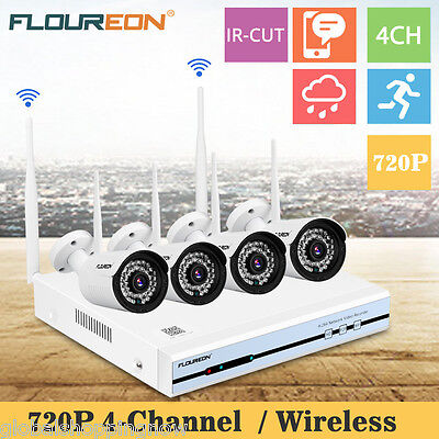 WIFI 720p HD Wireless IP Camera Security Video Surveillance 4CH 1080P NVR System