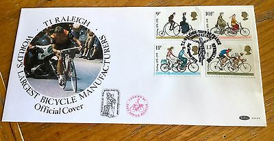 Benham First Day Cover Raleigh Bicycles Limited Edition