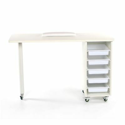 Urbanity Metro Nail Technician Desk Manicure Table Salon Workstation White