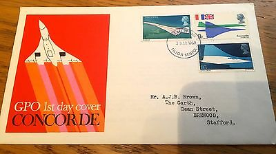 1969 Concorde First Day Cover With Rare Stamps