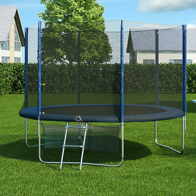 10FT ROUND SPRING TRAMPOLINE With Ladder Safety Net Enclosure Mat SWO