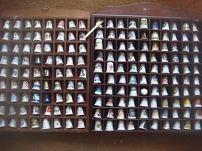 A Collection of 162 Thimbles From Around The World