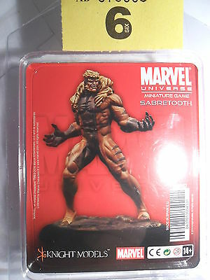 Knight Models Marvel Game X-Men Sabretooth Evil Mutant rare Lot 6