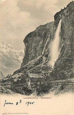 Old Postcard-STAUBBACH-LAUTERBRUNNEN-1905-Switzerland.