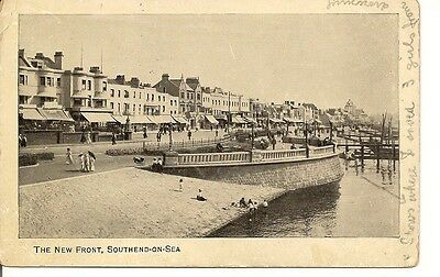 Old Postcard-SOUTH END ON SEA-THE NEW FRONT-1912-Essex-UK.
