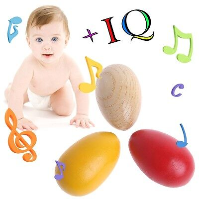 1Pc Fun Percussion Musical Egg Maracas Shakers Children Kids Toy Gift