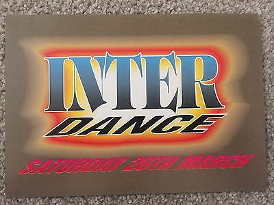 Interdance At Sterns Night Club Worthing 20.3.93 Rave Flyers Flyer