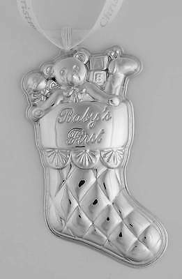 Reed & Barton BABYS FIRST CHRISTMAS STERLING ORNAMENT 2014 Stocking 10316957