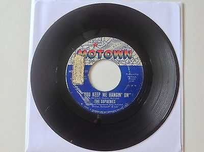 "The Supremes You Keep Me Hanging On Motown 45 Rpm 7"" Single Northern Soul"