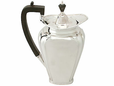Antique Art Nouveau Style Sterling Silver Coffee Jug 1920
