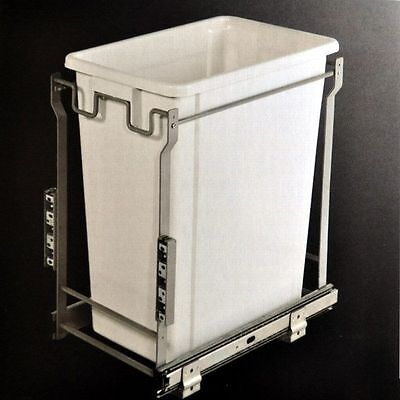 Kitchen Office Laundry Concealed Bin Pullout Pull Out Rubbish Bin 35L Door Mount