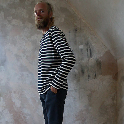 White and Star Blue Heritage Breton Top by Armor-lux