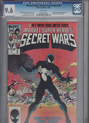 Secret Wars #8  CGC 9.6  White Pages