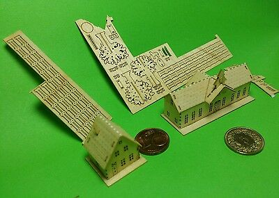 New made Station t-gauge house fense MONTIERT Germany Saxony