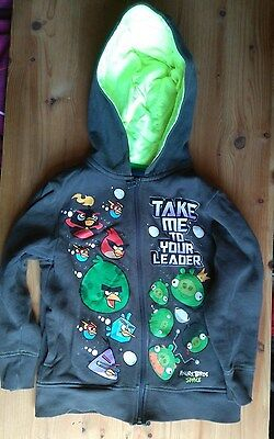 "Next ""Angry Birds Space"" - Hoodie Zippie Top - USED - Size 6 Years"
