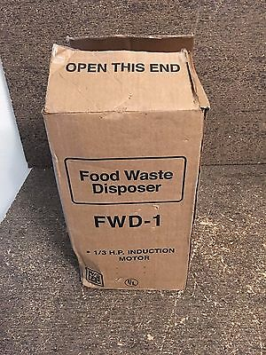 *NEW* FOOD WASTE DISPOSER 1/3 HP 120VAC Model # FWD-1