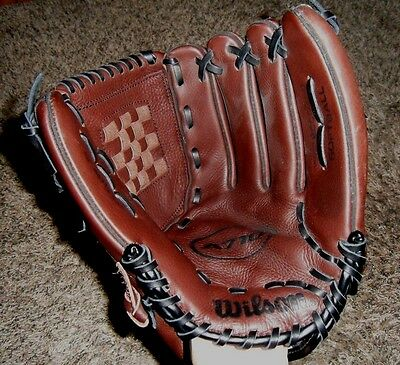 "WILSON 13"" A0710 XXC Softball Left Handed Glove Mitt ECCO Leather RHT ExcCond"