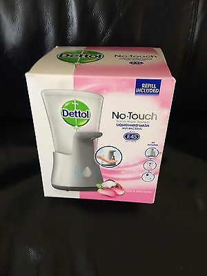 Dettol No-Touch Hand Wash System With  250Ml Lotus E45 Flower  Refill New