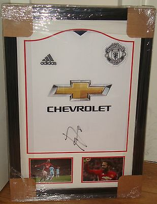 Framed Juan Mata Hand Signed Manchester United Away Shirt