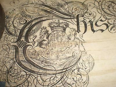 1738 Large Ornate Vellum Indenture, Ye Olde Watling Pub, London & Seals, A-Grade