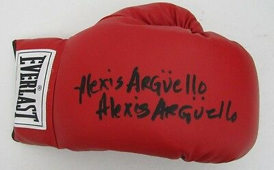 Alexis Arguello Signed Everlast Boxing Glove JSA R88933