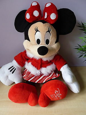 """Disney Store MINNIE MOUSE Soft Plush 18"""" high with red outfit 2010"""