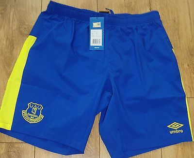 EVERTON UMBRO BLUE 3rd KIT SHORTS SIZE ADULT LARGE BRAND NEW WITH TAGS