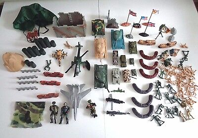 Collection/Job Lot of Toy Military/Army/War Vehicles: Tanks scenery 94-in-total