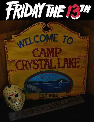 Freitag der 13. / Friday the 13th CAMP CRYSTAL LAKE Schild / Sign 80x75 cm Prop!