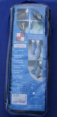 Equilibrium Equi-Chaps Stable Chaps Horse Boots Navy Blue Size: Xl Extra Large