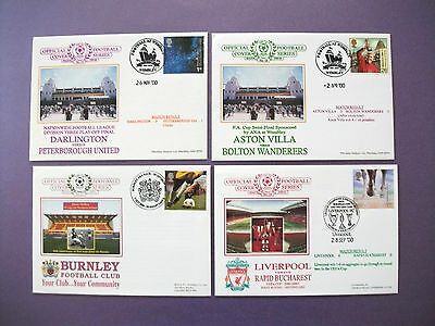 4 x Official Football First Day Commemorative Covers - 17th Series