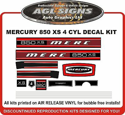 MERCURY  850 XS Outboard Decal Kit 4 Cyl Model  reproductions   85