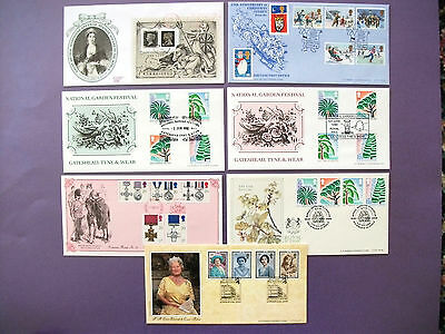 7 x AG Bradbury First Day Covers 1990