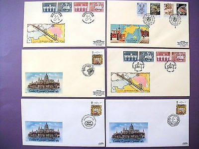6 x Philart First Day Covers 1984