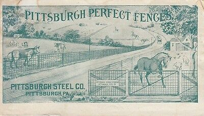 Vintage Pittsburgh Perfect Fence Brochure Pittsburgh Steel Co Farm Ranch Field