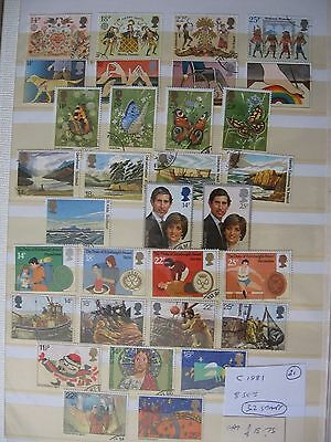 Gb Stamps. Complete 1981.8 Sets. Used.