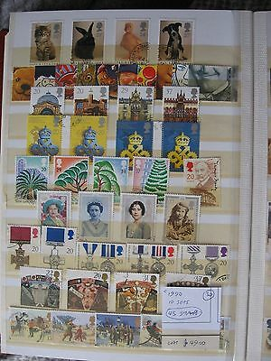 Gb Stamps. Complete 1990 10 Sets. Used.