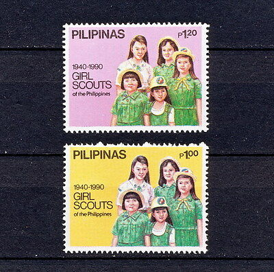 ALAC 051  PHILIPPINES  Girl Scouts & Girl Guides 1990  MNH